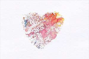 Watercolor love Illustration