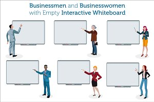People with Interactive Whiteboard