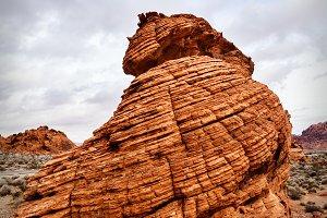 Sandstone Rock Formation in Desert