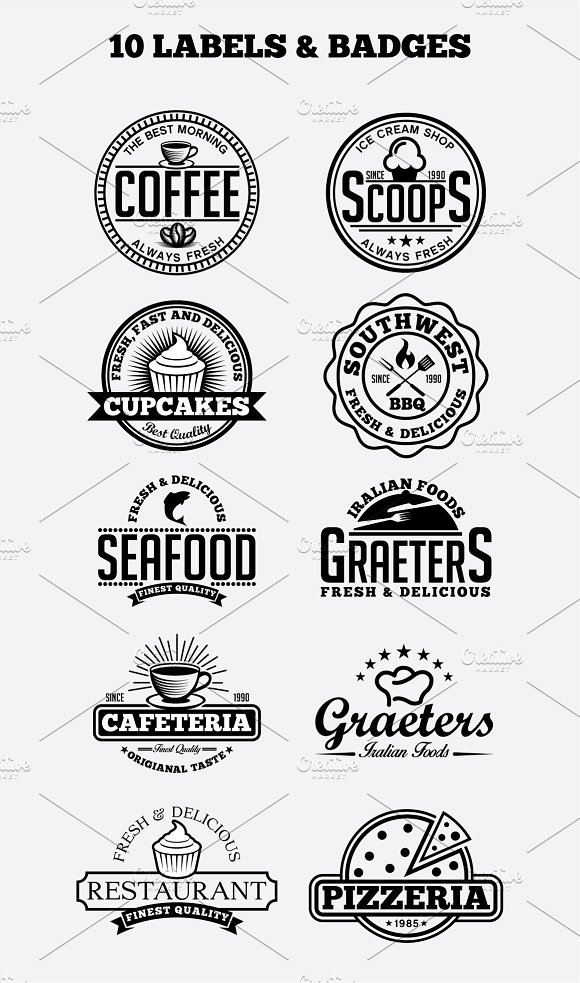 10 Vintage Badges And Logos Vol3