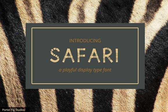 Safari Playful Display Font Typeface
