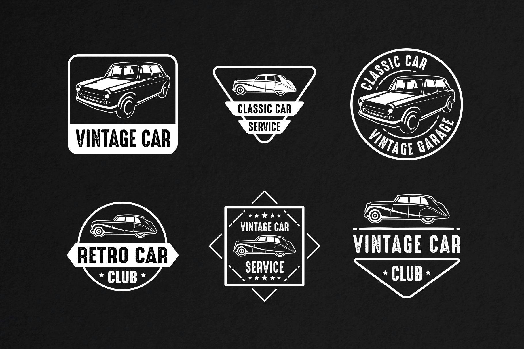 Classic Car Vintage Badge & Logo ~ Logo Templates ~ Creative Market