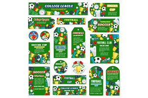 Vector posters for football or soccer game
