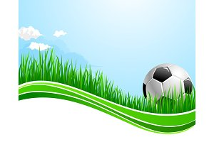 Vector football soccer sport arena background