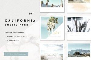 California Social Media Pack