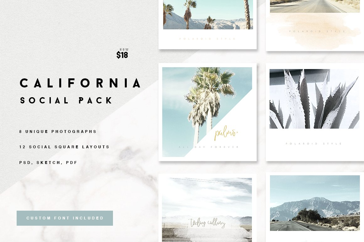 California Social Media Pack