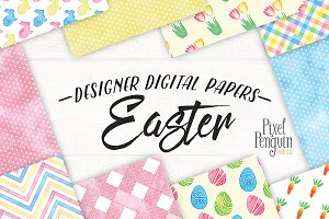 Easter Eggs Digital Paper Patterns