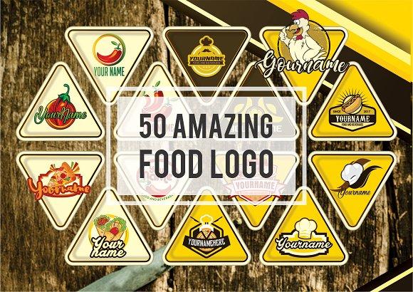 50 AMAZING FOOD LOGO