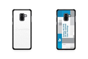 Galaxy A8 2018 2d PC Colored Case