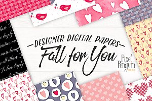 Fall For You Valentines Patterns
