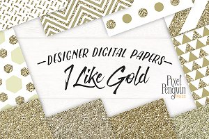 Gold Geometric Pattern Digital Paper