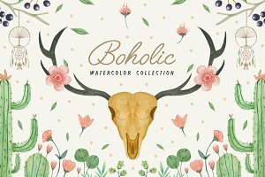 Boholic Watercolor Collection
