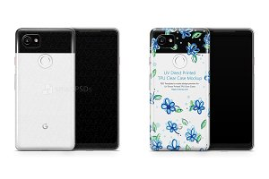 Google Pixel 2 XL UV TPU Clear Case