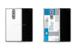 Nokia 8 2d PC Clear Case Mockup