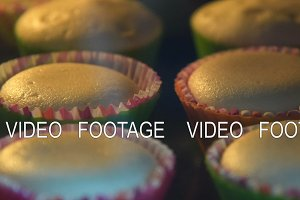 Timelapse of baking cupcakes