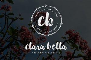 Clara Bella Circle Premade Logo