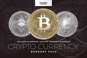 Cryptocurrency Renders Pack