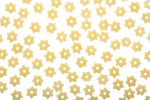 pasta star shape isolated on white background. Top view. Flat lay