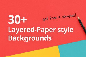 30+ Layered-Paper style Backgrounds