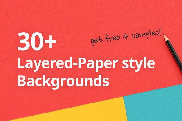 30 Layered-Paper Style Backgrounds
