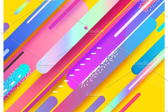 Modern design abstract illustration. Color trend elements