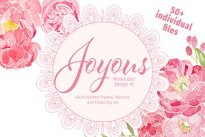 Joyous Watercolor Design Kit