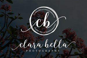 Clara Bela Circle Rough Premade Logo