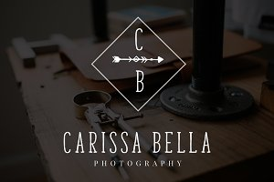 Carissa Bella Arrow Premade Logo