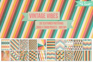 Vintage Vibes Paper Texture Patterns