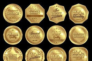 Golden Awards Icon Set