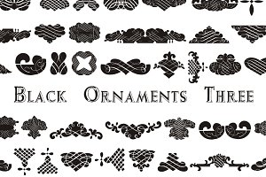 Black Ornaments Three