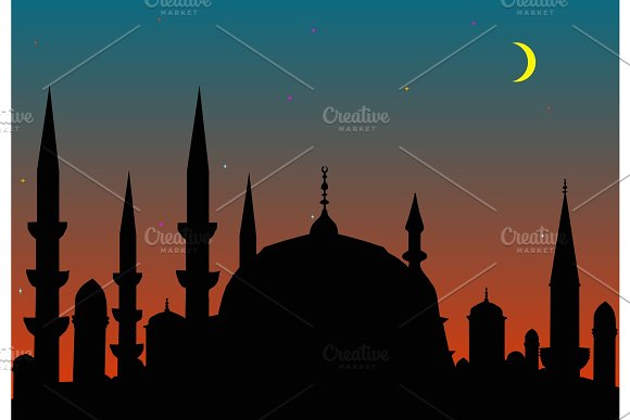 silhouette of the medieval city