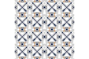 Arrows colored ethnic seamless pattern