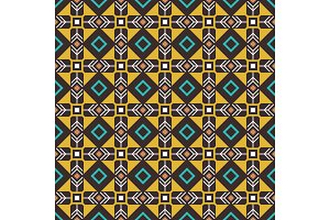 Pseudo african craft ethnic pattern