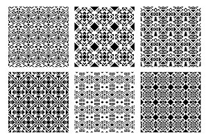 Ethnic monochrome patterns set