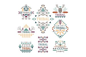 Tribal logo set