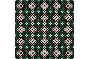 Decorative geometric pattern in green