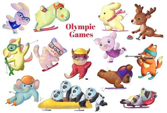Olympic Games Animal Sportsmen