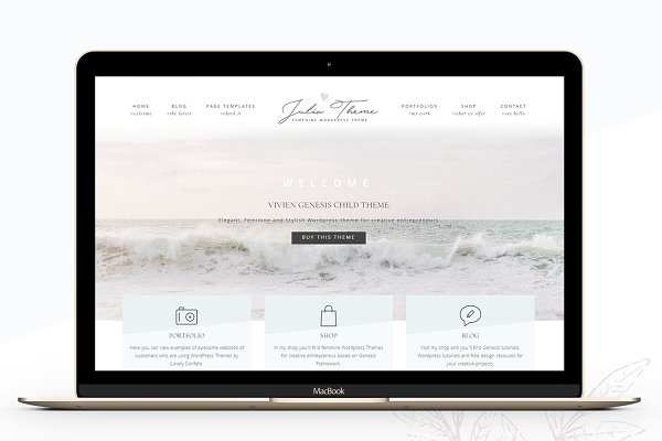 WordPress Photography Themes: Lovely Confetti - Photography eCommerce Genesis theme