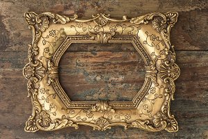 Vintage baroque golden frame