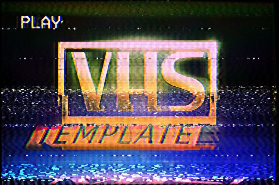 VHS Effect Template Textures Creative Market