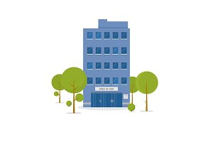 Business building illustration
