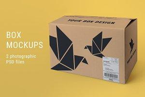 Large Box Mockup
