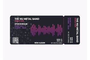 Music concert ticket