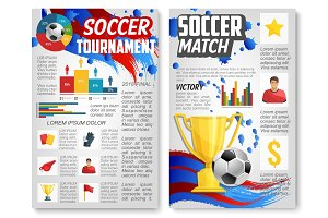 Vector poster for football or soccer sport match