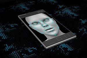 smartphone with face recognition on