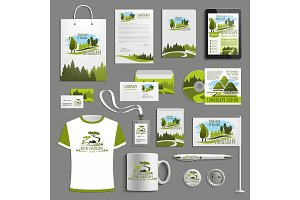Advertising promo vector item for landscape design