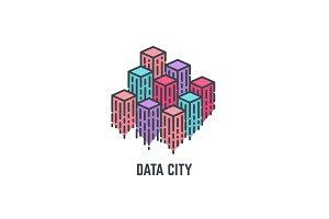 Data city skyscrapers