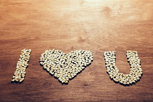 """I love you"" symbol made from wooden"