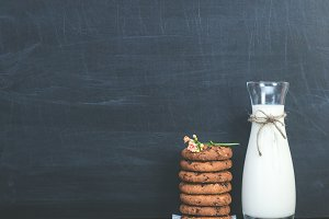 Fragrant cookies and fresh milk